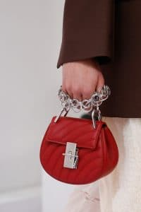 Chloe Red Quilted Drew Bag - Spring 2018