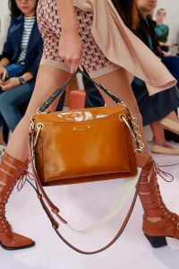 Chloe Tan Patent Top Handle Bag - Spring 2018