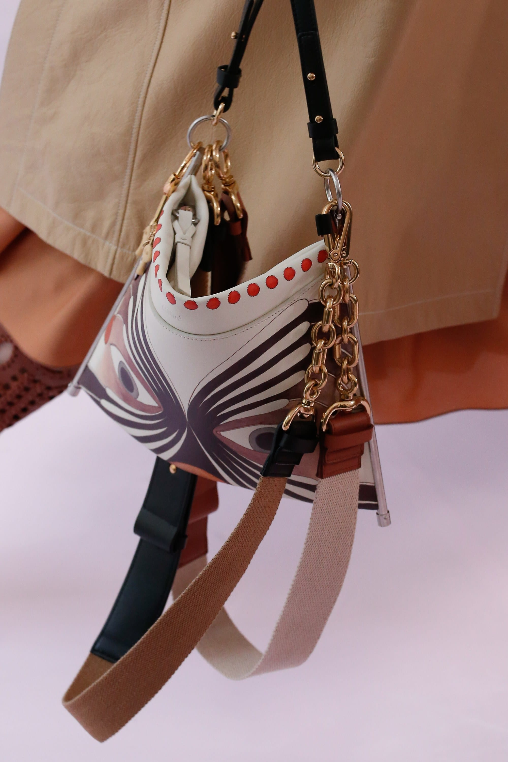 Chloe White Printed Shoulder Bag 2 Spring 2018