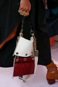 Chloe White and Red Leather Shoulder Bag - Spring 2018