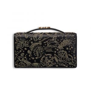 Dior Black Astrology Embroidered Evening Clutch Bag