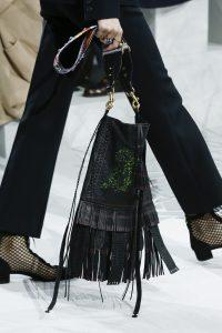 Dior Black Dragon Printed Fringed Crossbody Bag - Spring 2018