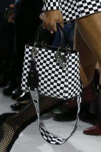 Dior Black/White Checkered Lady Dior Bag - Spring 2018