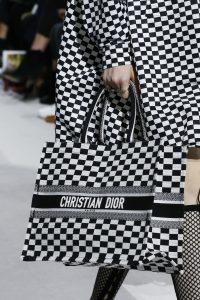 Dior Black/White Checkered Tote Bag - Spring 2018