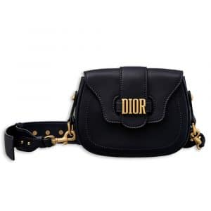 Dior Deep Blue D-Fence Saddle Bag