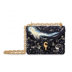 Dior Deep Blue I Feel Blue Embroidered and Printed C'est Dior Mini Flap Bag