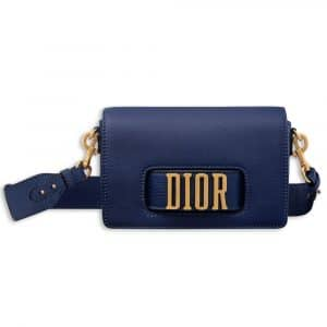 Dior Indigo Blue Dio(r)evolution Flap Bag with Slot Handclasp