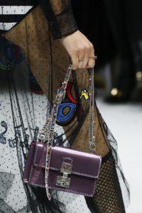 Dior Metallic Purple Embellished Dioraddict Flap Bag - Spring 2018
