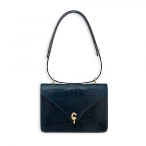 Dior Shiny Petrol Blue Nile Crocodile C'est Dior Flap Bag