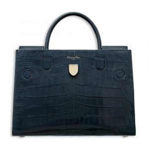 Dior Shiny Petrol Blue Nile Crocodile Diorever Bag