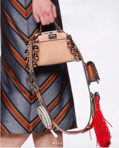 Fendi Beige Embellished Micro Peekaboo Bag 2 - Spring 2018