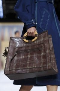 Fendi Black Plaid Runaway Bag - Spring 2018
