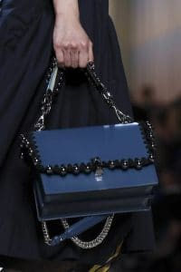 Fendi Blue Embellished Kan I Bag - Spring 2018