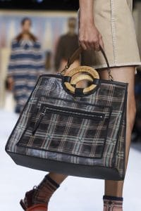 Fendi Blue Plaid Runaway Bag - Spring 2018