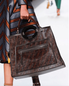 Fendi Brown FF Pattern Runaway Bag 2 - Spring 2018