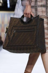 Fendi Brown FF Pattern Runaway Bag - Spring 2018