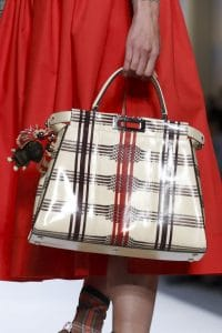 Fendi Ivory/Brown Plaid Python Peekaboo Bag - Spring 2018