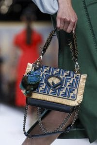 Fendi Natural/Blue FF Pattern Kan I F Bag - Spring 2018