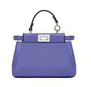 Fendi Purple Micro Peekaboo Bag 1
