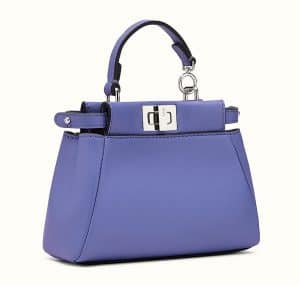 Fendi Purple Micro Peekaboo Bag 2