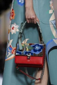 Fendi Red Floral/FF Pattern Kan I Bag - Spring 2018