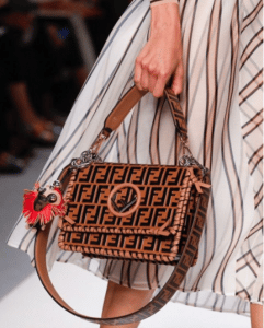 Fendi Tan/Black FF Pattern Kan I F Bag - Spring 2018