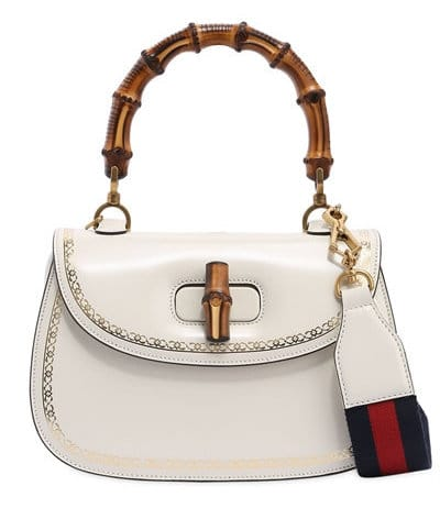 Gucci Bamboo and Leather Top Handle Bag