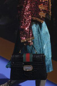 Gucci Black Crocodile Top Handle Bag - Spring 2018