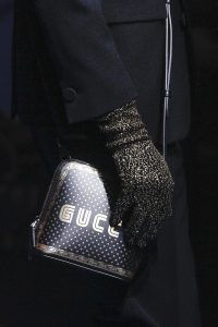 Gucci Black/Gold Printed Guccy Mini Crossbody Bag - Spring 2018