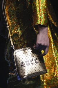 Gucci Gold/Black Printed Guccy Crossbody Bag - Spring 2018