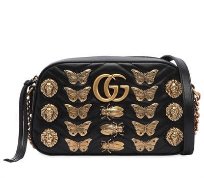 Gucci Small GG Marmont Bag W: Metal Appliqués