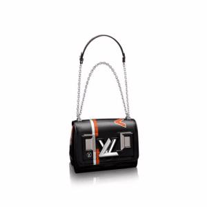 Louis Vuitton Black Printed:Embossed Epi Twist PM Bag