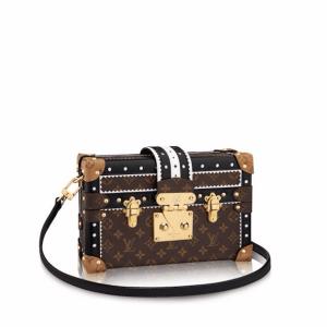 Louis Vuitton Brogue Monogram Canvas Petite Malle Bag