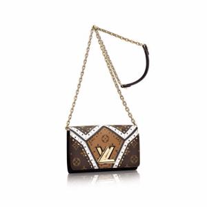 Louis Vuitton Brogue Monogram Canvas Twist Chain Wallet Bag