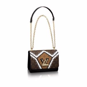 Louis Vuitton Brogue Monogram Canvas Twist MM Bag
