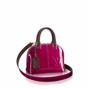 Louis Vuitton Magenta Patent/Monogram Canvas Alma BB Bag