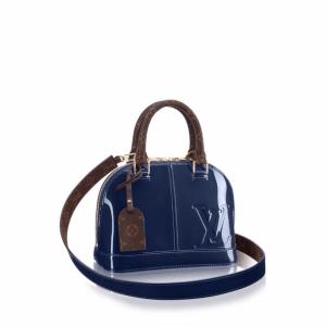Louis Vuitton Marine Patent/Monogram Canvas Alma BB Bag