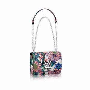 Louis Vuitton Multicolor Floral Printed Twist MM Bag