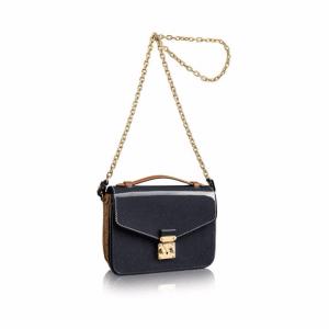 Louis Vuitton Noir Epi/Monogram Reverse Pochette Métis Mini Bag