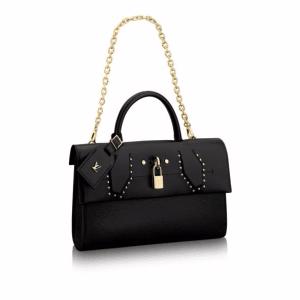 Louis Vuitton Noir Studded Pochette City Steamer Bag