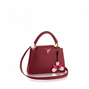 Louis Vuitton Red Marengo Taurillon with Iris Charm Capucines BB Bag