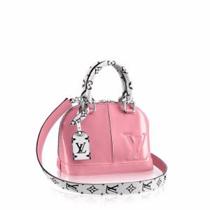 Louis Vuitton Rose Ballerine Patent/Monogram Canvas Alma BB Bag