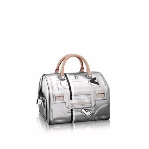 Louis Vuitton Silver Printed/Embossed Epi Speedy 25 Bag