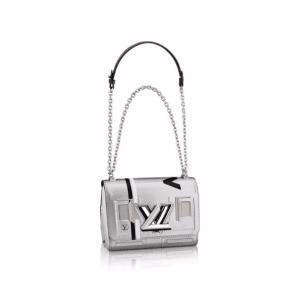 Louis Vuitton Silver Printed:Embossed Epi Twist PM Bag