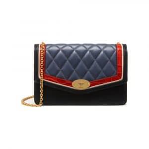 Mulberry Black / Chalk / Red Fox & Elephant Silky Calf & Croc Print Darley Bag