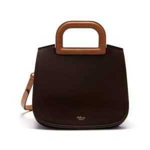 Mulberry Gold Ochre / Chocolate & Dark Violet Croc Print & Silky Calf Suede Brimley Bag