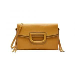 Mulberry Gold Ochre Silky Calf Brimley Envelope Bag