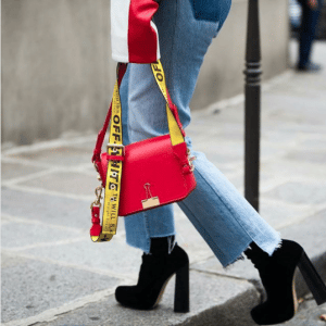 Off-White Red Binder Clip Bag 1