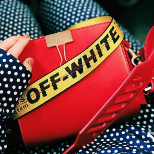 Off-White Red Binder Clip Bag 2