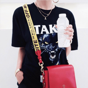 Off-White Red Binder Clip Bag 4